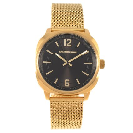 Relógio Analógico Feminino Chilli Beans Metal Escovado Dourado RE.MT.0975-4721