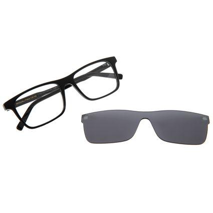 Armação Para Óculos de Grau Masculino Chilli Beans Retangular Multi Cristal Preto LV.MU.0377-0401