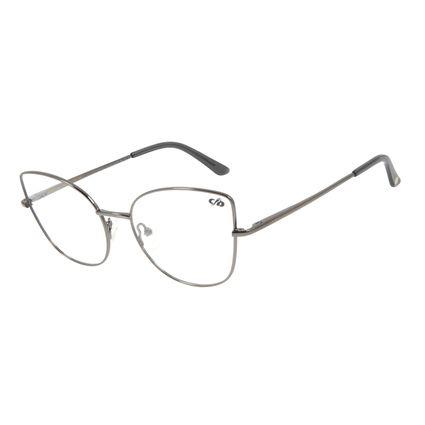 Armação Para Óculos de Grau Chilli Beans Gatinho Metal Ônix LV.MT.0416-2222
