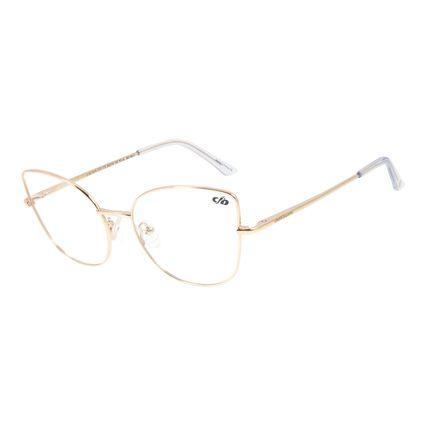 Armação Para Óculos de Grau Chilli Beans Gatinho Metal Dourado LV.MT.0416-2121