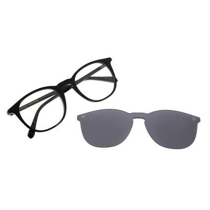 Armação Para Óculos De Grau Chilli Beans Masculino Multi Redondo Preta LV.MU.0350-0401