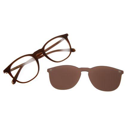 Armação Para Óculos De Grau Masculino Chilli Beans Multi Redondo Marrom Escuro LV.MU.0350-0247