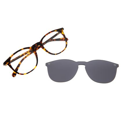 Armação Para Óculos De Grau Masculino Chilli Beans Multi Redondo Tartaruga LV.MU.0350-0506
