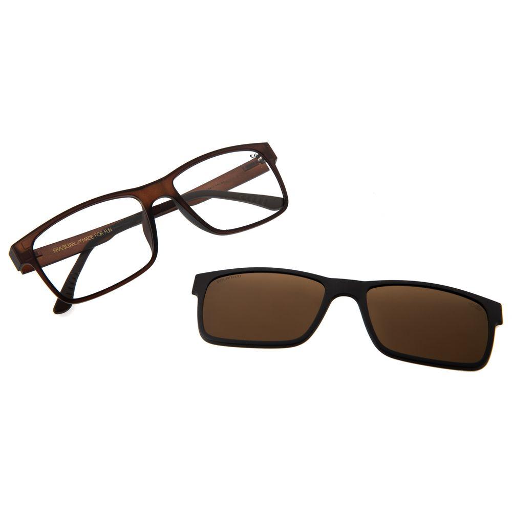 Armação Para Óculos De Grau Masculino Chilli Beans Multi Marrom Fosco LV.MU.0137-0231