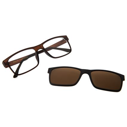 Armação Para Óculos De Grau Masculino Chilli Beans Essential Multi Marrom Fosco LV.MU.0137-0231
