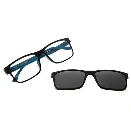 Armação Para Óculos De Grau Masculino Chilli Beans Multi Fumê Azul LV.MU.0137-0508