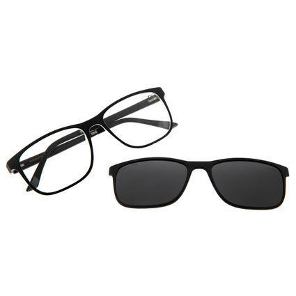 Armação Para Óculos De Grau Masculino Multi Quadrado Preto Polarizado LV.MU.0403-0401