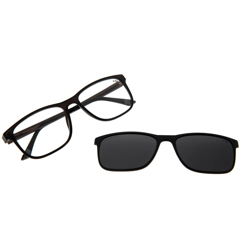 Armação Para Óculos De Grau Masculino Multi Quadrado Cinza Polarizado LV.MU.0403-0430