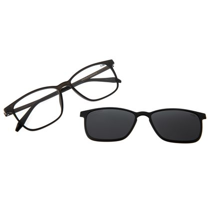Armação Para Óculos De Grau Masculino Chilli Beans Essential Multi Preto Polarizado LV.MU.0407-0101