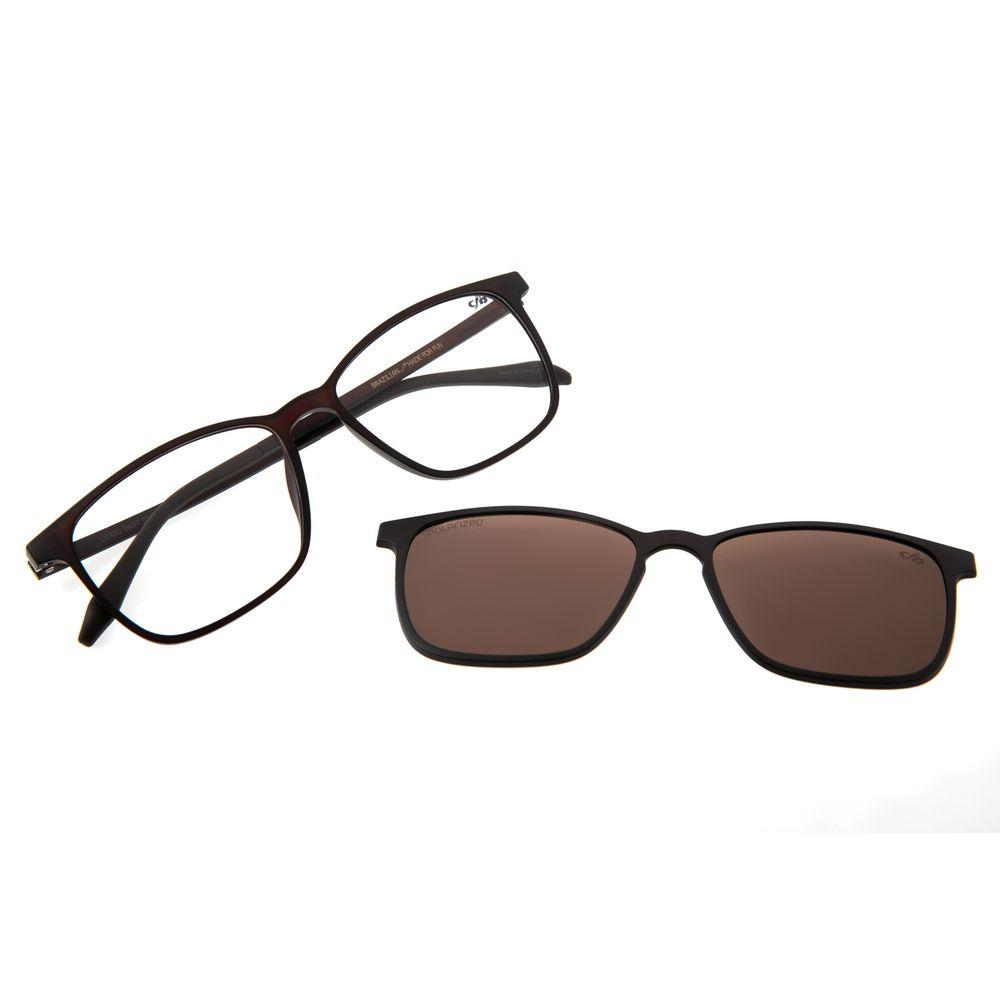 Armação Para Óculos De Grau Masculino Chilli Beans Essential Multi Marrom Polarizado LV.MU.0407-0202