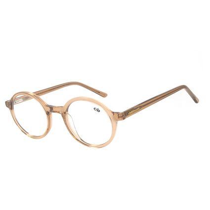 Armação para Óculos de Grau Unissex Chilli Beans Redondo Cristal Marrom LV.AC.0648-0202