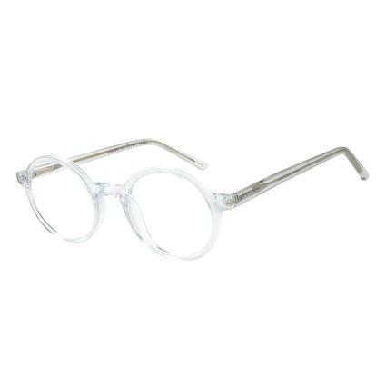 Armação para Óculos de Grau Unissex Chilli Beans Redondo Cristal Transparente LV.AC.0648-3636