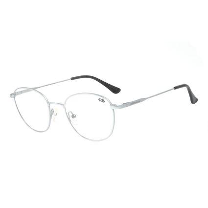 Armação Para Óculos de Grau Unissex Chilli Beans Redondo Titânio Preto LV.MT.0375-0101