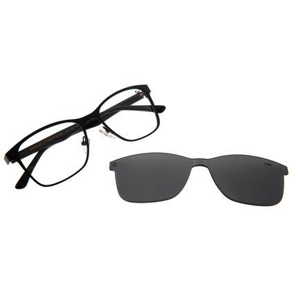 Armação para Óculos de Grau Unissex Multi Bossa Nova Inox Preto LV.MU.0268-0101