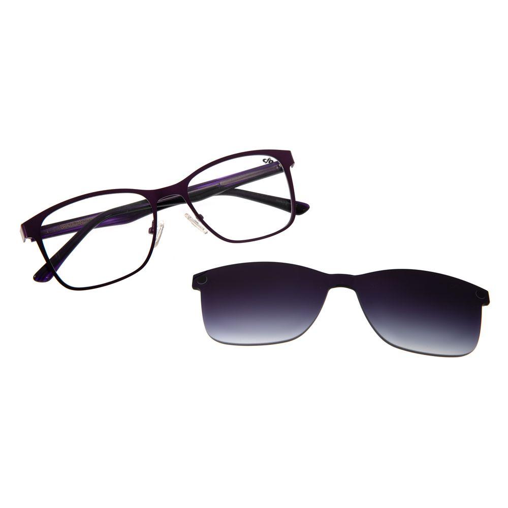 Armação para Óculos de Grau Unissex Multi Bossa Nova Inox Roxo LV.MU.0268-2014