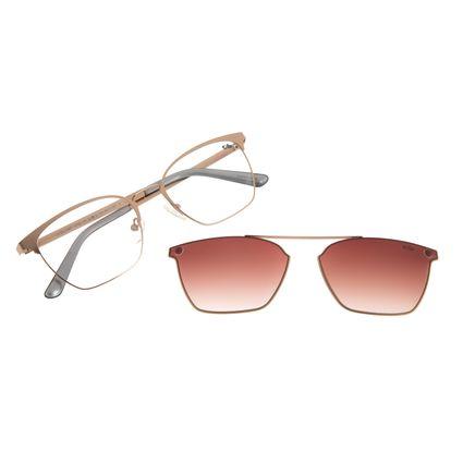 Armação para Óculos de Feminino Chilli Beans Multi Quadrado Metal Rosê LV.MU.0397-5795