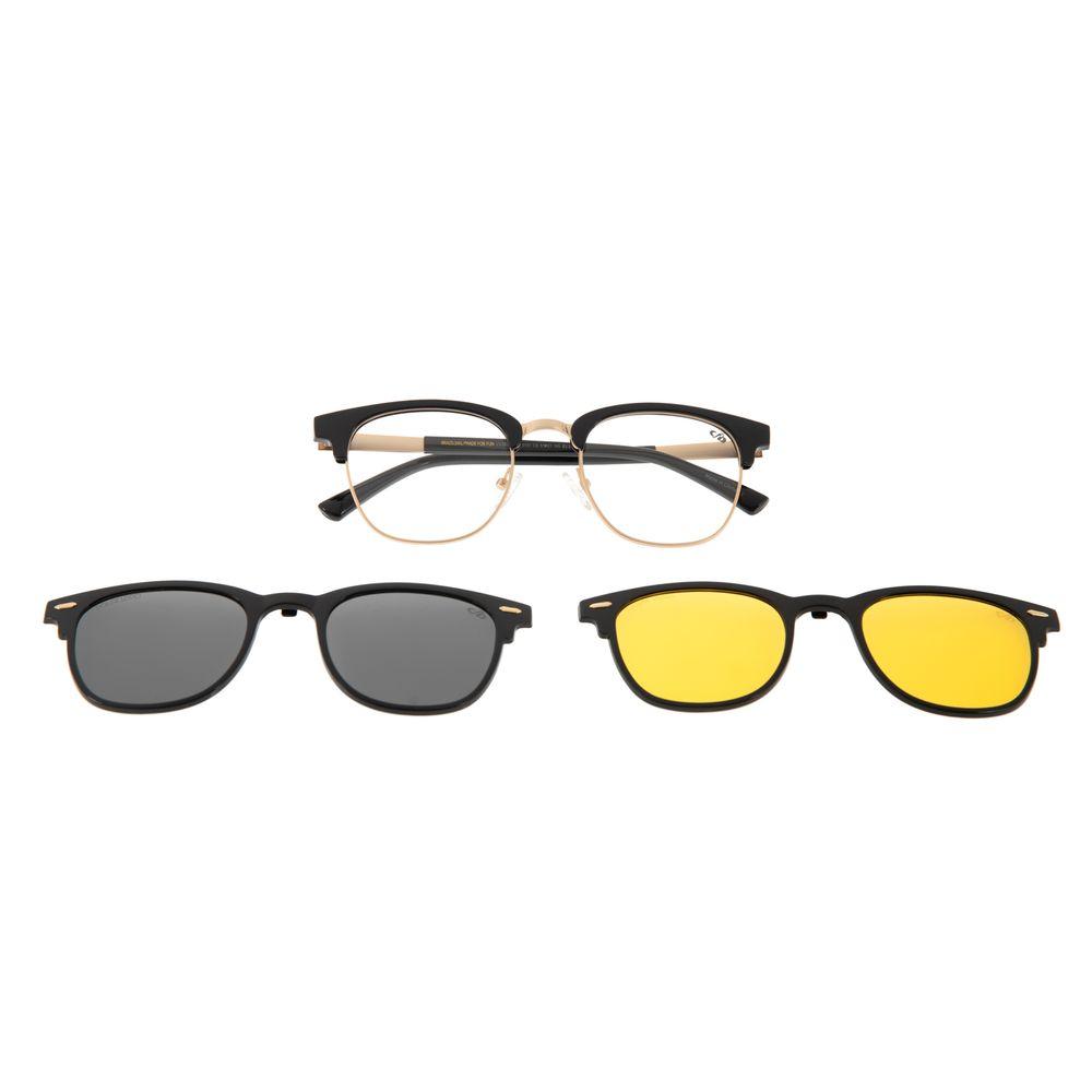 Armação Para Óculos De Grau Unissex Chilli Beans Jazz Night Vision Preto LV.MU.0399-0101