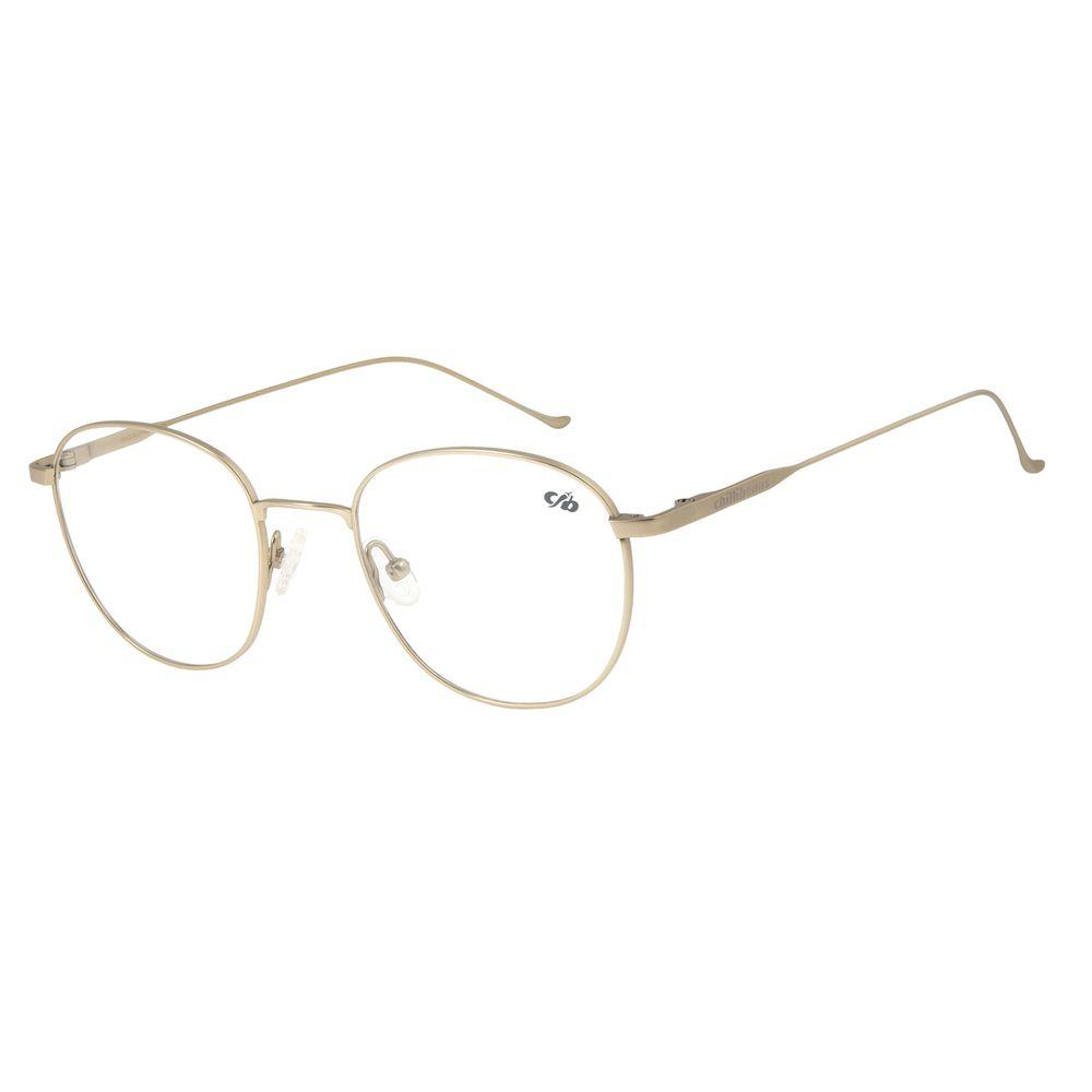 Armação Para Óculos de Grau Unissex Chilli Beans Redondo Titânio Dourado LV.MT.0375-2121