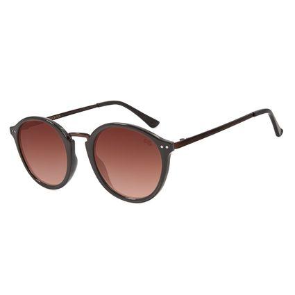 Óculos de Sol Unissex Chilli Beans Redondo Degradê Marrom OC.CL.3004-5702