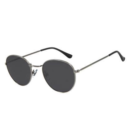 Óculos de Sol Unissex Chilli Beans Redondo Metal Ônix OC.MT.2822-0122