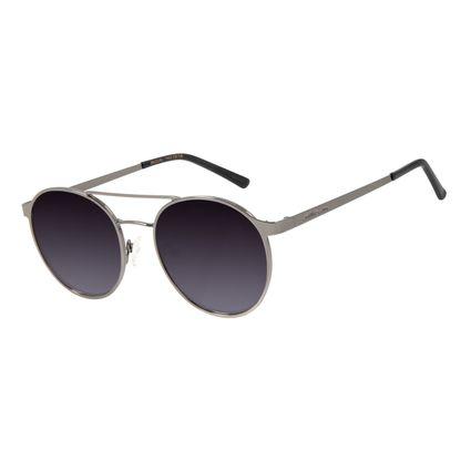 Óculos de Sol Feminino Chilli Beans Redondo Metal Ônix OC.MT.2869-2022