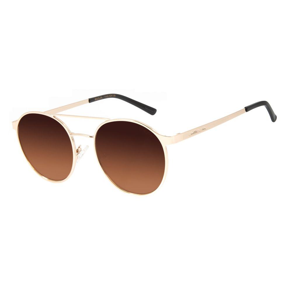 Óculos de Sol Feminino Chilli Beans Redondo Metal Dourado OC.MT.2869-5721