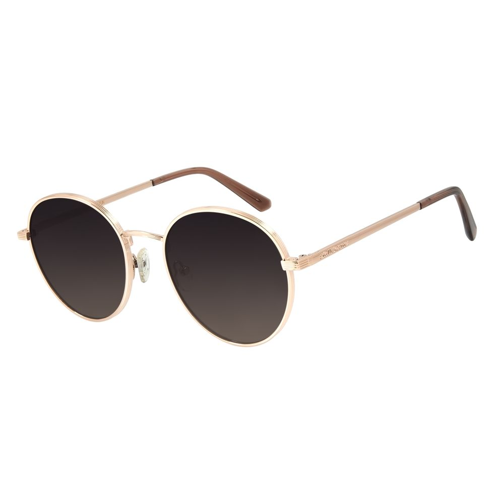 Óculos de Sol Feminino Chilli Beans Redondo Metal Rosê OC.MT.2870-2095