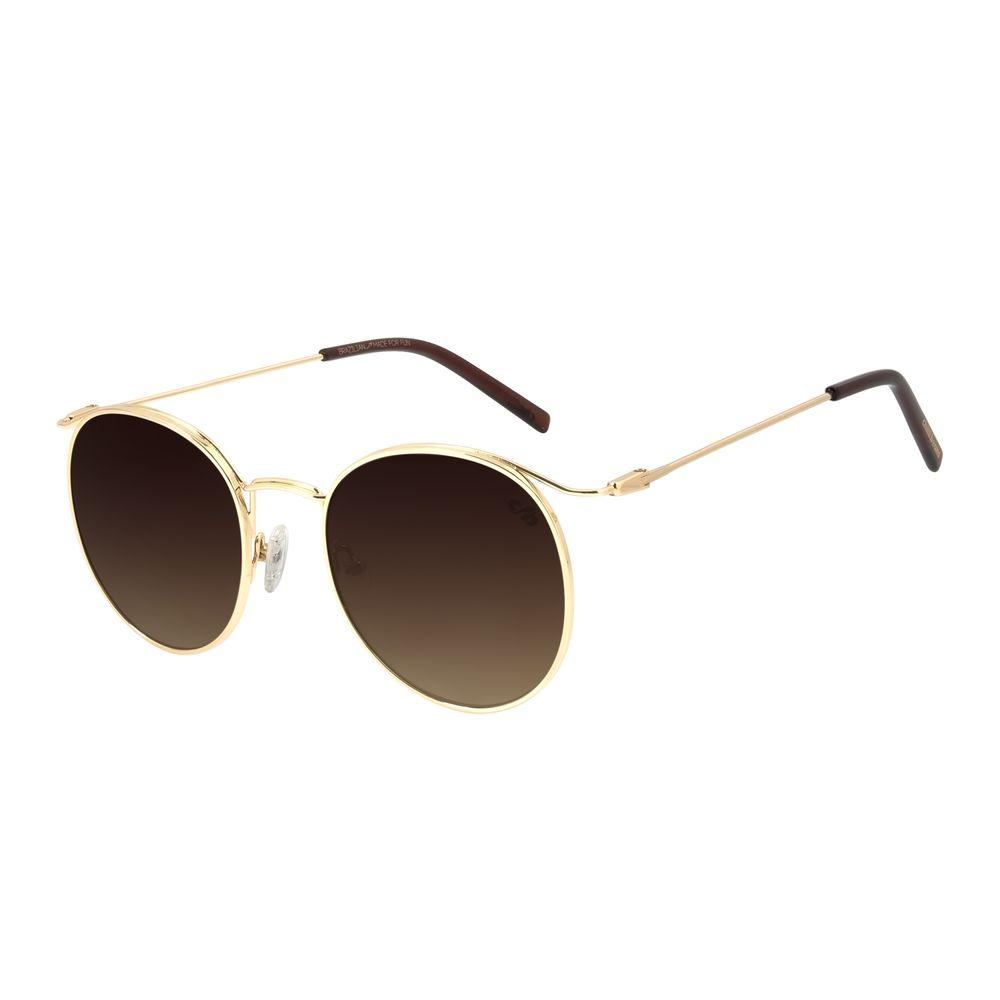 Óculos de Sol Feminino Chilli Beans Redondo Metal Dourado OC.MT.2871-5721