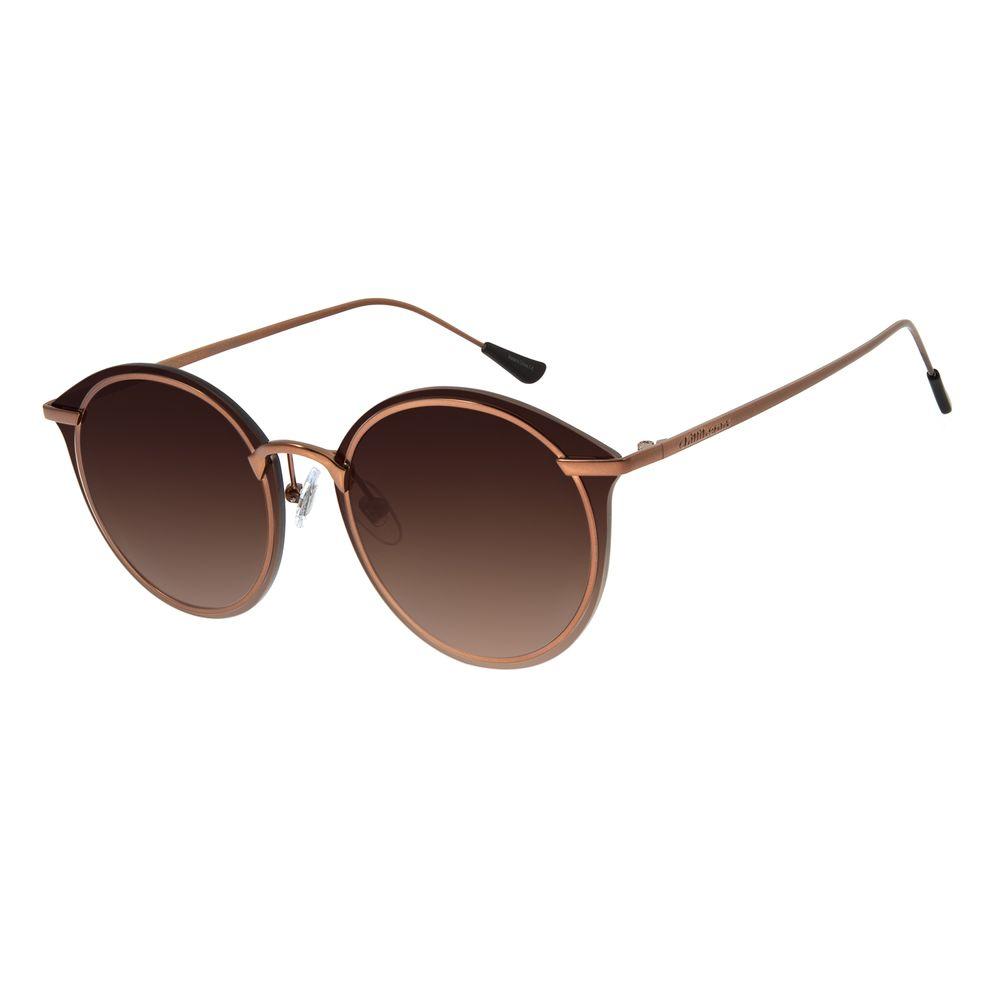 Óculos de Sol Feminino Chilli Beans Redondo Metal Marrom OC.MT.2872-5702