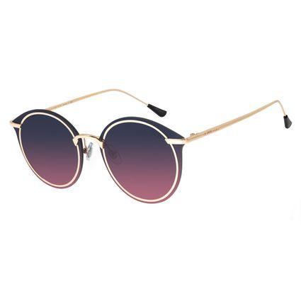 Óculos de Sol Feminino Chilli Beans Redondo Metal Dourado OC.MT.2872-8321