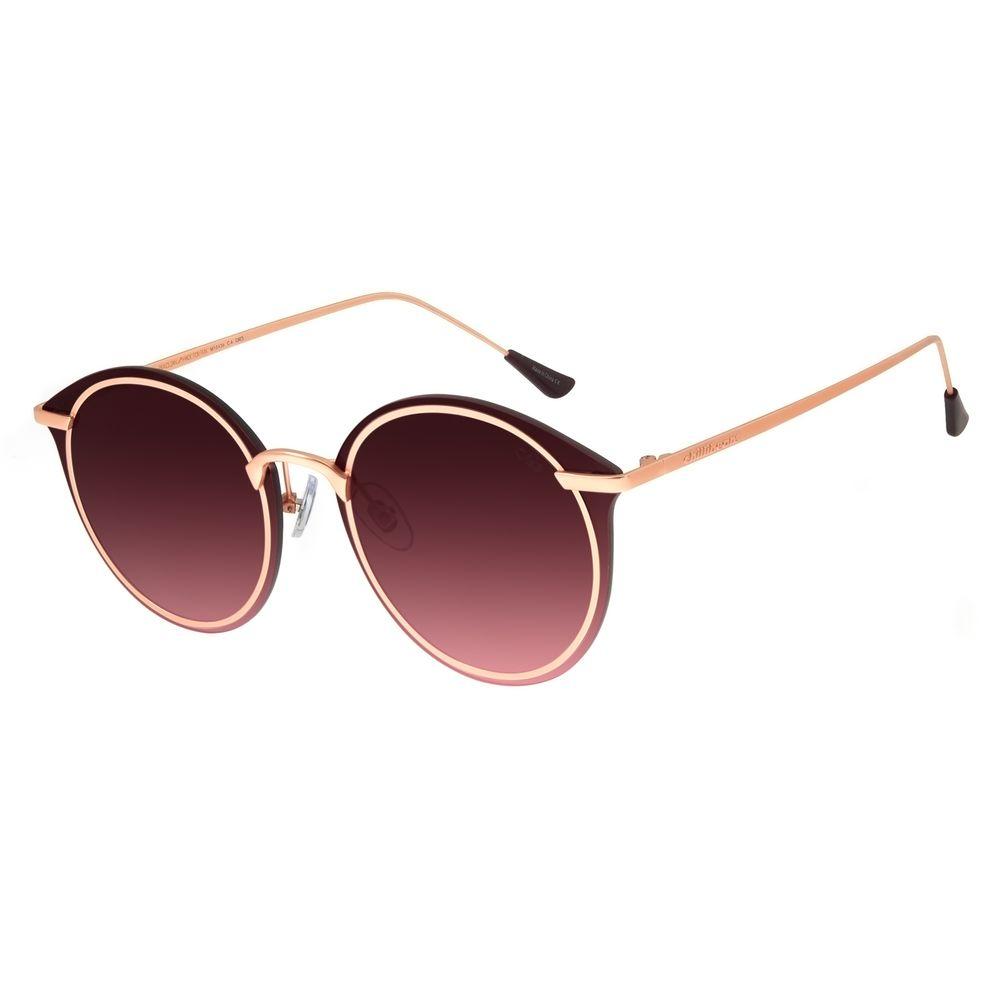Óculos de Sol Feminino Chilli Beans Redondo Metal Rosê OC.MT.2872-2095