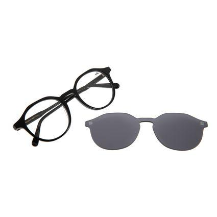 Armação para Óculos de Grau Chilli Beans Masculino Multi Redondo Preto LV.MU.0376-0501