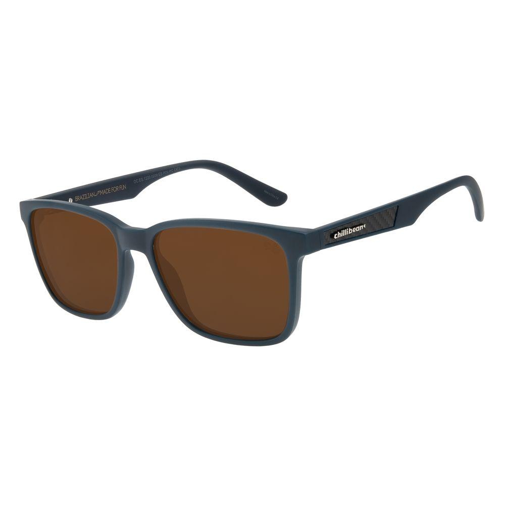 Óculos de Sol Masculino Chilli Beans Esportivo Azul Polarizado OC.ES.1220-0208