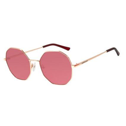 Óculos de Sol Feminino Chilli Beans Hexagonal Rosê OC.MT.2843-8095