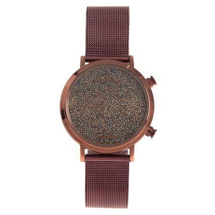 Relógio Digital Feminino Chilli Beans Cristalline Marrom RE.MT.0984-0202