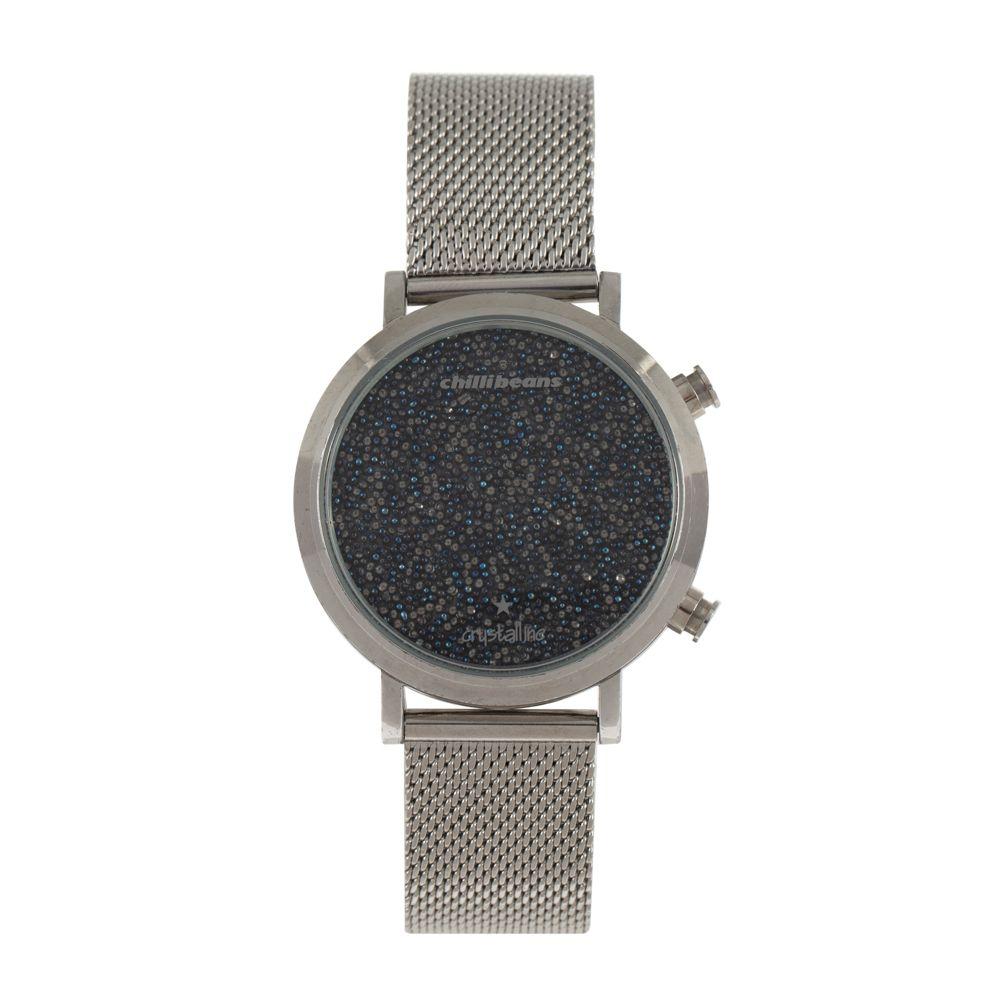 Relógio Digital Feminino Chilli Beans Cristalline Prata RE.MT.0984-0707