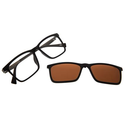 Armação Para Óculos De Grau Masculino Alok Multi Polarizado Marrom LV.MU.0436-0202