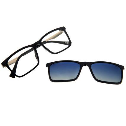 Armação Para Óculos De Grau Masculino Alok Multi Polarizado Azul Escuro LV.MU.0436-8390