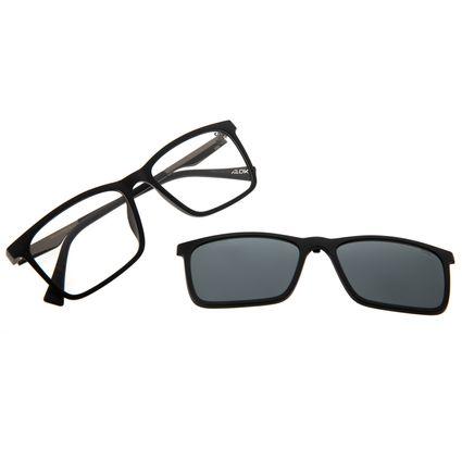 Armação Para Óculos De Grau Masculino Alok Multi Polarizado Preto LV.MU.0436-0101