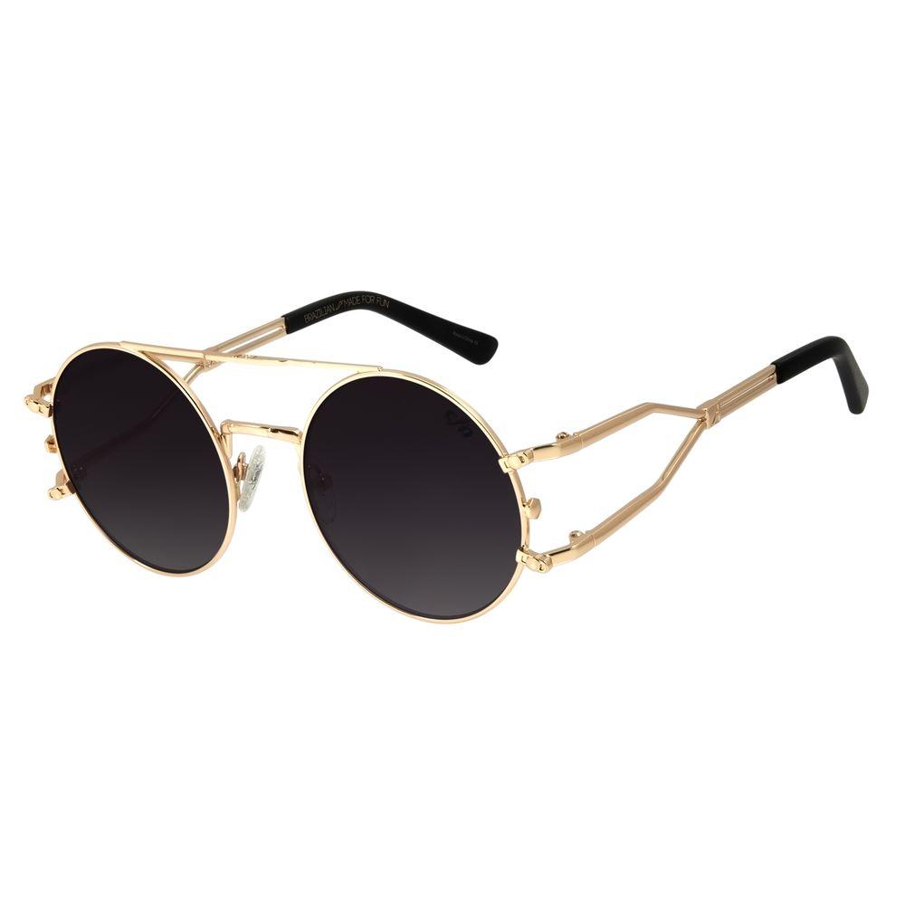 Óculos de Sol Unissex Alok Haste Dupla Dourado OC.MT.2894-2021