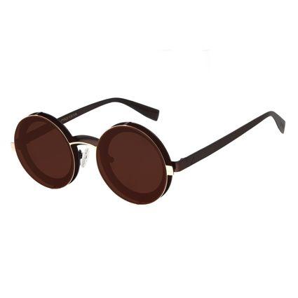 Óculos de Sol Unissex Alok Redondo Layers Dourado OC.MT.2895-0221