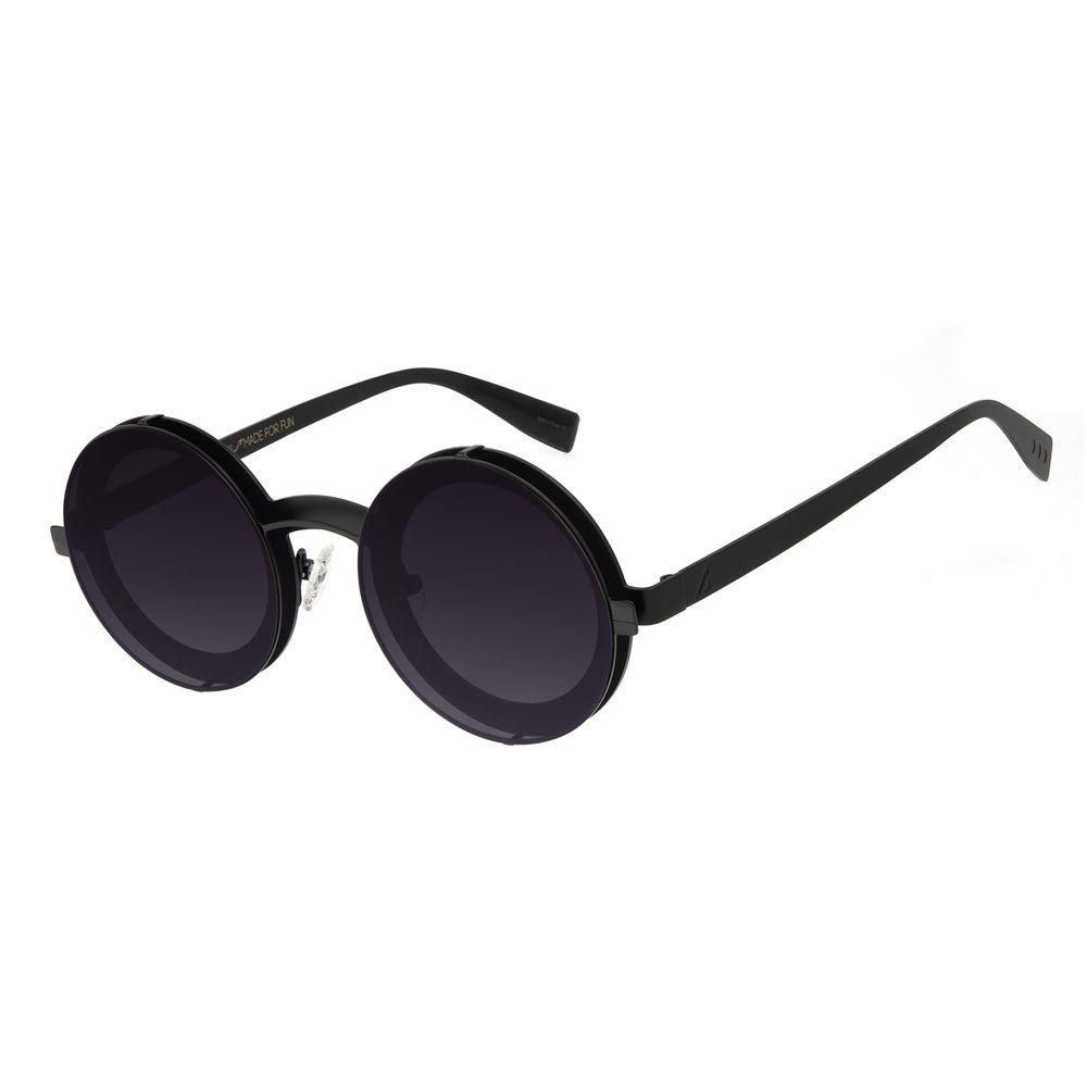 Óculos de Sol Unissex Alok Redondo Layers Preto OC.MT.2895-2001