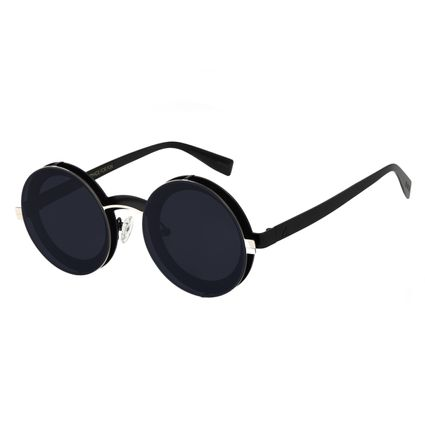 Óculos de Sol Unissex Alok Redondo Layers Prata OC.MT.2895-0507