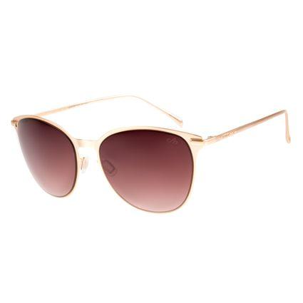Óculos de Sol Feminino Chilli Beans Redondo Dourado OC.MT.2311-0221