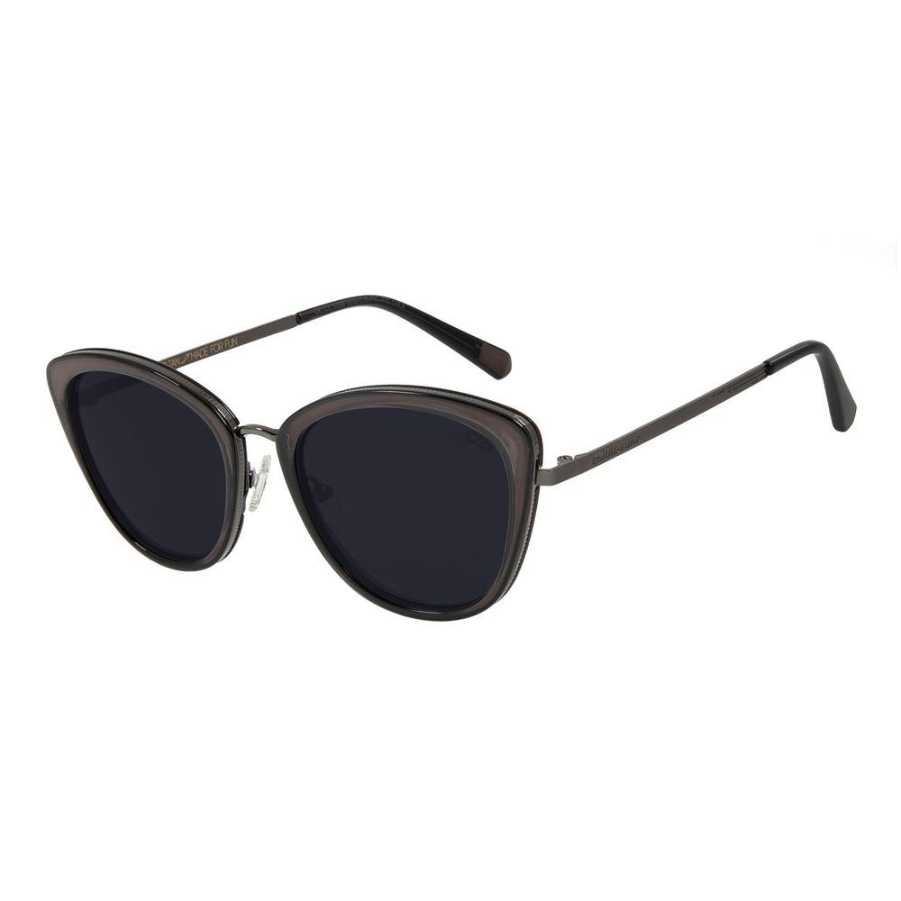 Óculos de Sol Feminino Alok FashionTech Gatinho Fumê .CL.3058-0530