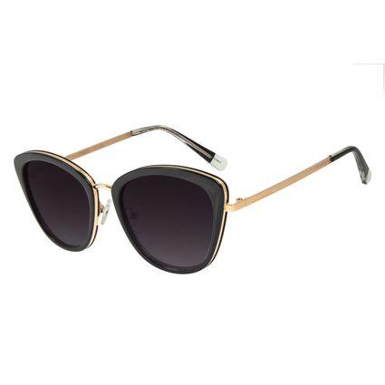 Óculos de Sol Feminino Alok FashionTech Gatinho Preto .CL.3058-2001