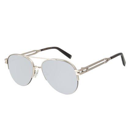 Óculos de Sol Unissex Alok Sunset Aviador Espelhado Prata OC.MT.2893-3207