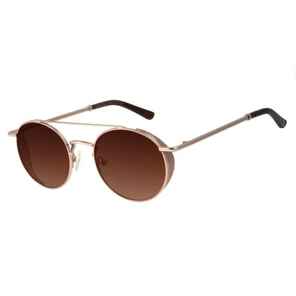 Óculos de Sol Unissex Alok Classy Redondo Degradê Marrom OC.MT.2896-5721