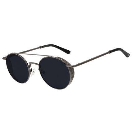 Óculos de Sol Unissex Alok Classy Redondo Ônix OC.MT.2896-0522
