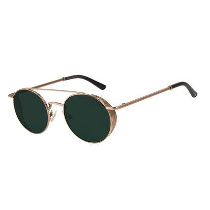 Óculos de Sol Unissex Alok Classy Redondo Marrom OC.MT.2896-1502